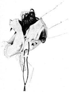 Illustration accompanying the original publication in Galaxy magazine of short story Unbegotten Child by Winston K Marks