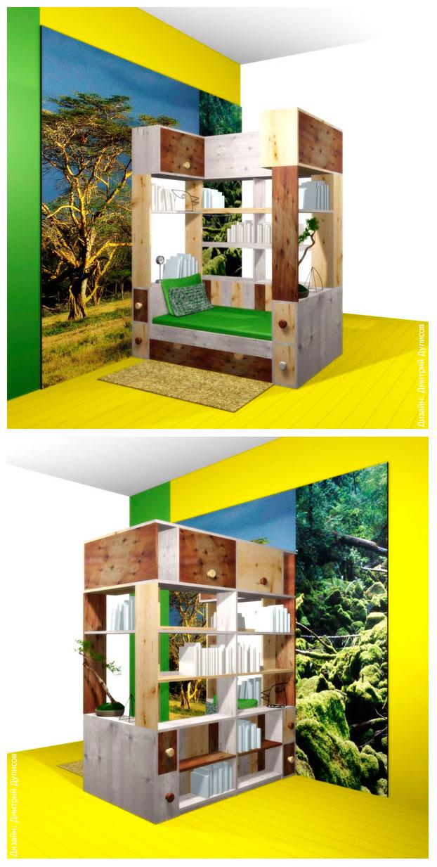 Дизайн мебельного гарнитура для подростка