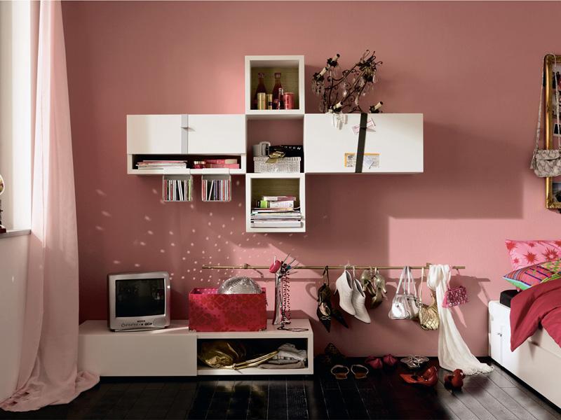 Moderna ideas de dormitorios para chicas en color rosa - Dormitorios color rosa ...