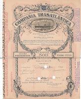 share of the Compañia Trasatlantica
