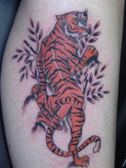 Style Tiger Tattoo. Japanese tiger Tattoo Art