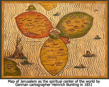 The Christ In Prophecy Journal Jerusalem Is The Center Of The World - Jerusalem map world