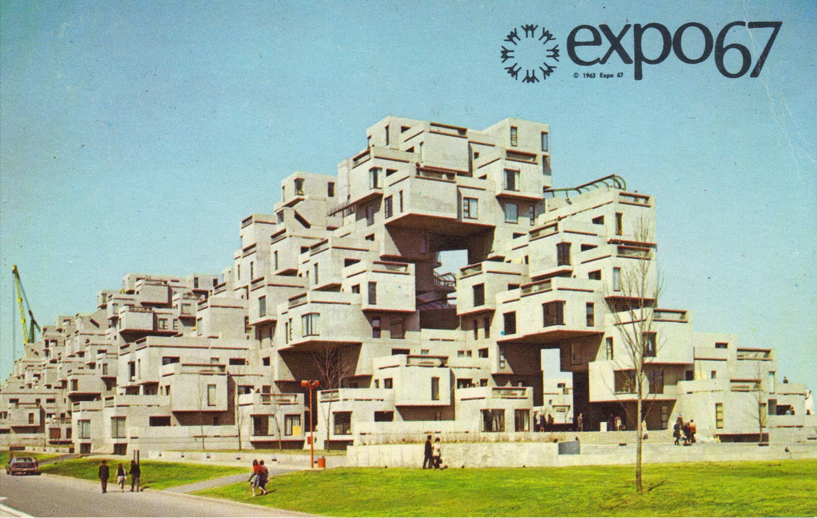Postales inventadas making up postcards 535 expo 67 for Habitat 67 architecture