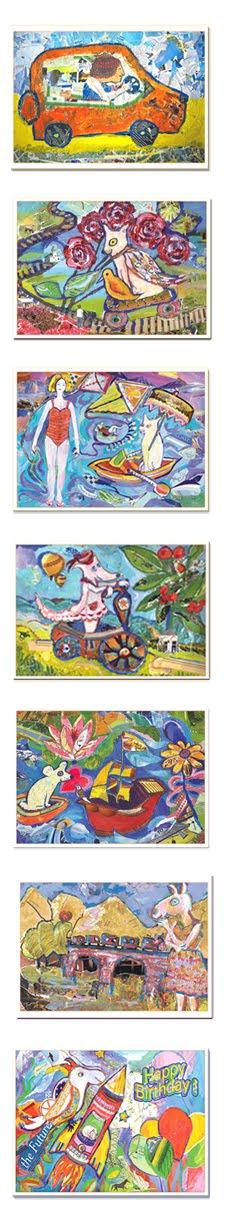 כרטיסי ברכה - סדרת קולאז' בכייף