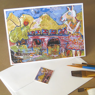 Magical Mystery Train greeting card