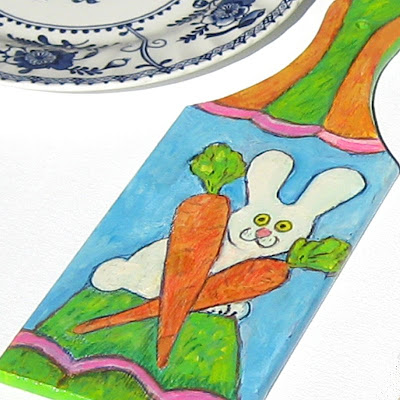 The Bunny Decorative cutting board