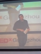 weirdchina on stage at TEDx Guangzhou