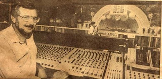 Frank Supak, head audio technician at the Hollywood Bowl sound booth console, from the LA Times.