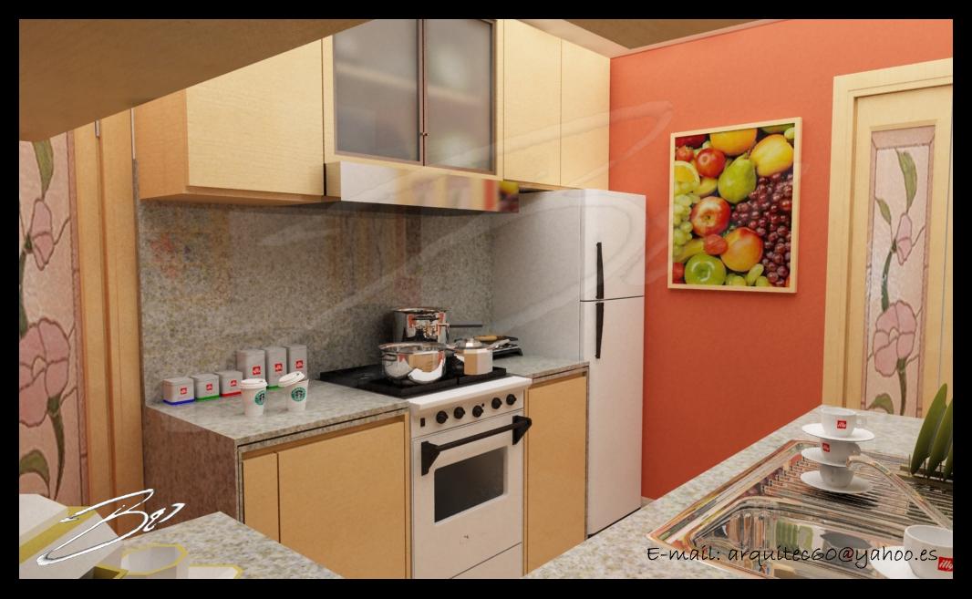 Bo3d cg art animation remodelacion cocina for Remodelacion de cocinas pequenas