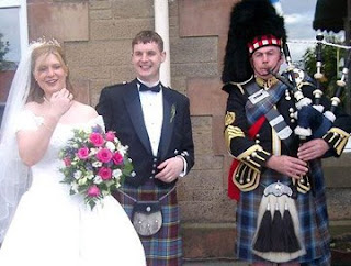 Modern Scottish wedding
