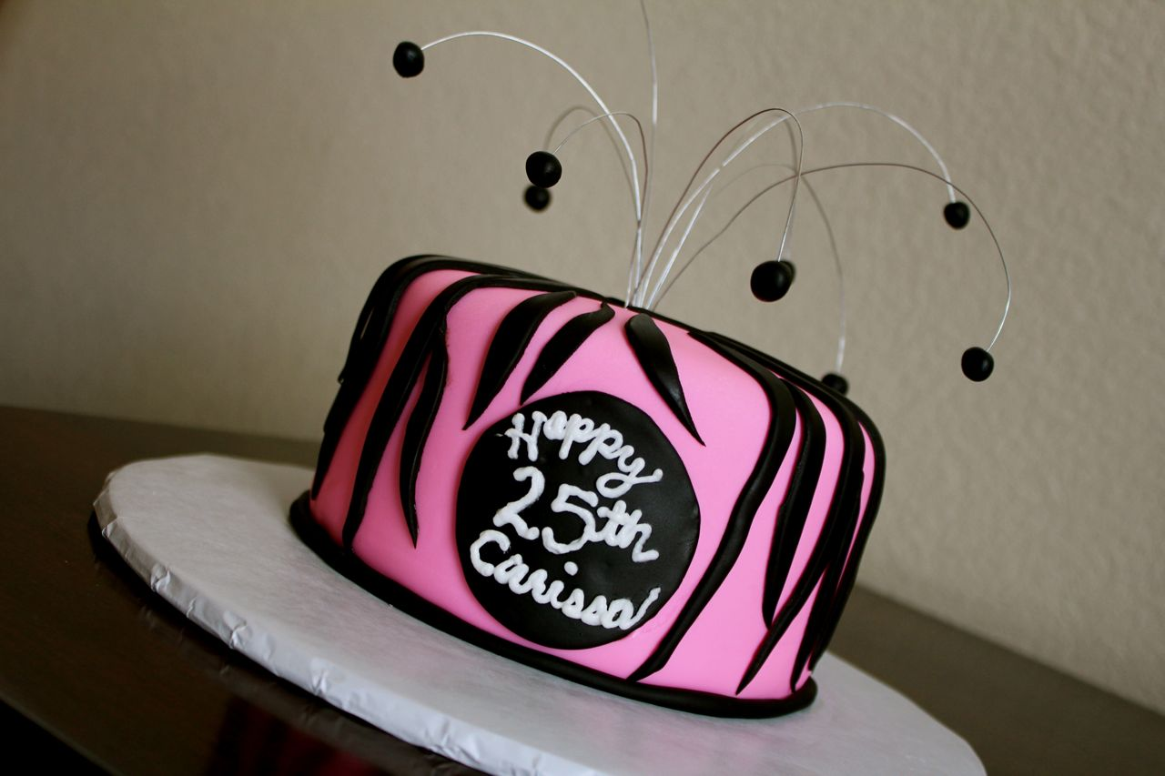 CakeWalk Designs Zebra Birthday Cake
