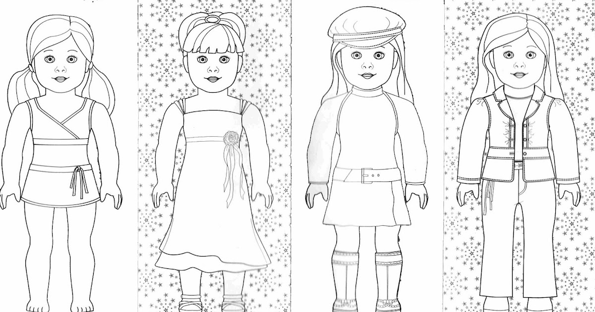 Bonggamom finds and more american girl coloring pages for American girl coloring pages