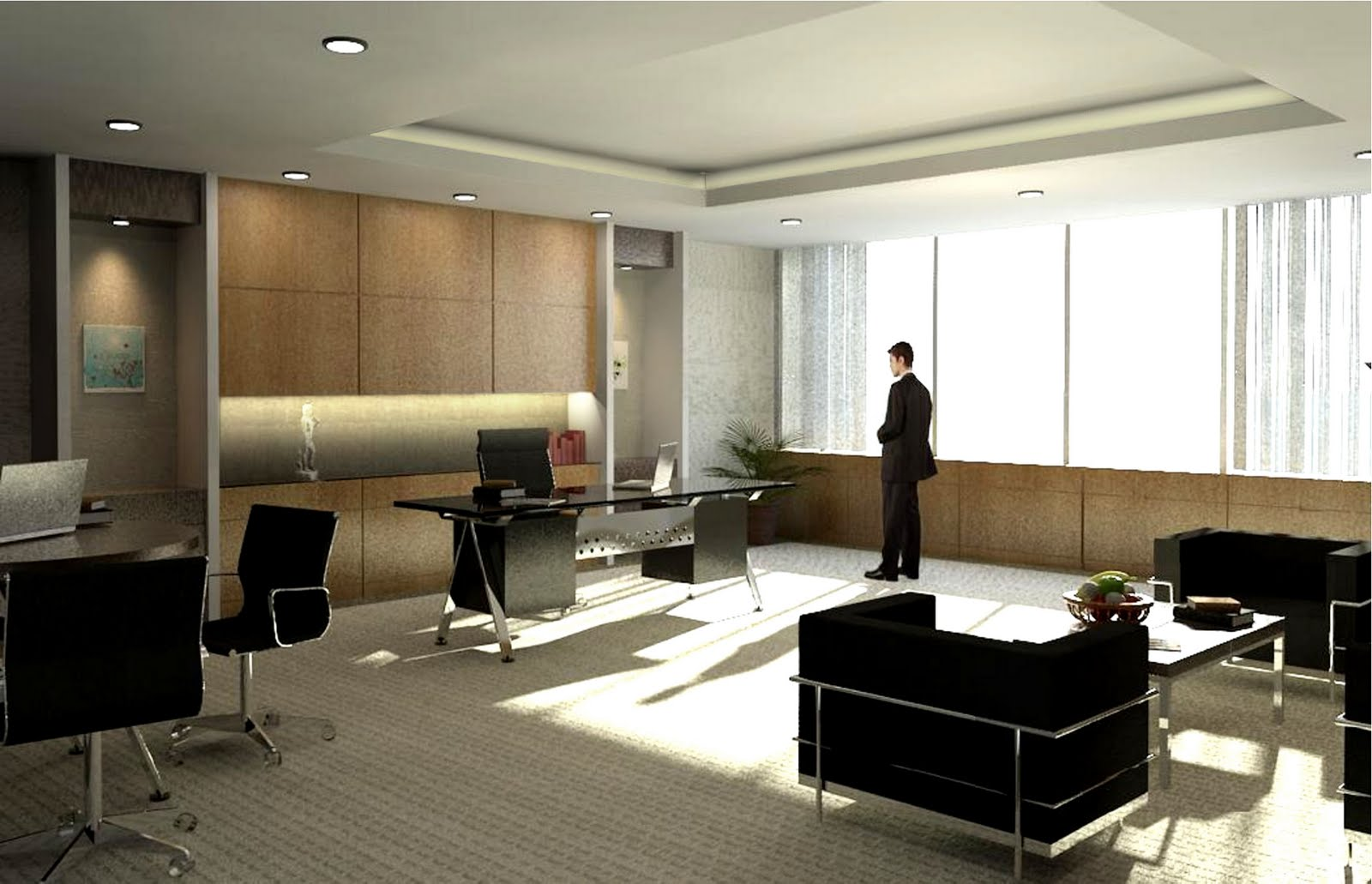 Rekaruang ruang direktur interior project for Director office room design