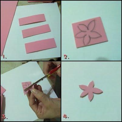 cortar rectangulos de goma eva cm x cm