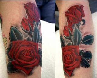 rosa no braço