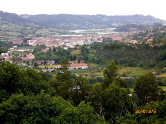 Vista desde la carretera de subida desde Villaviciosa.