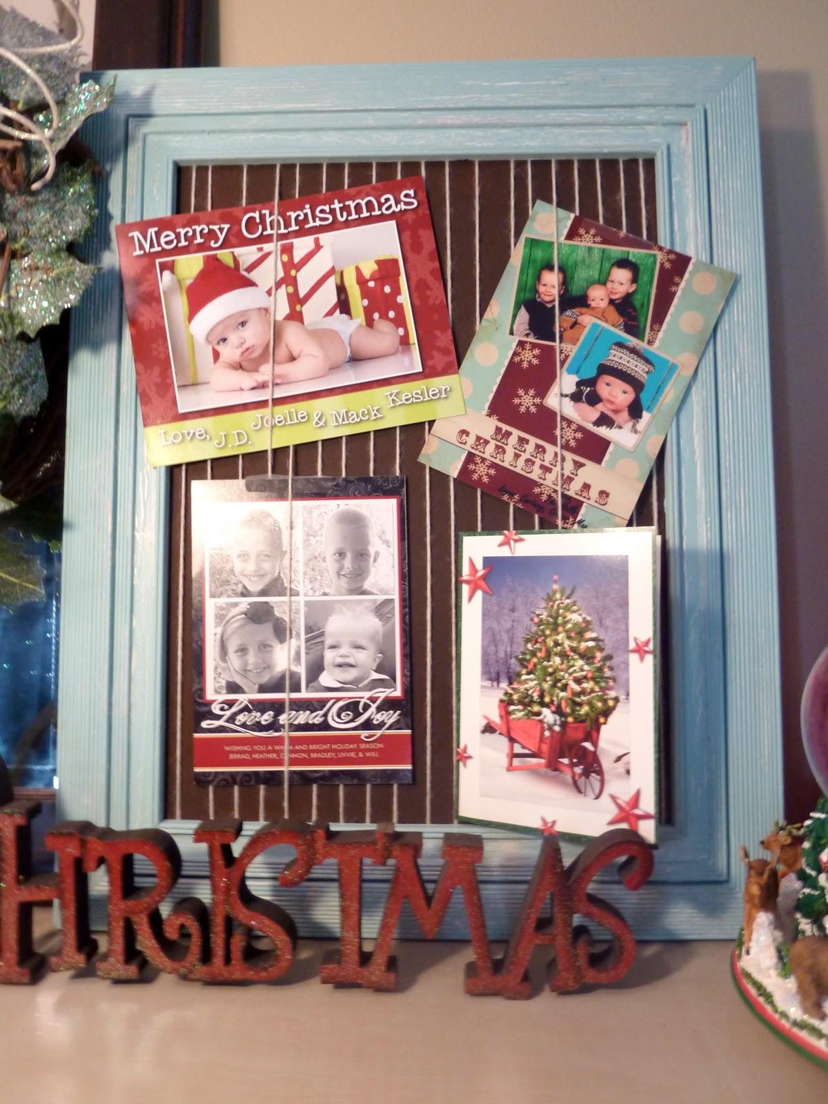 Sassy Sanctuary: Frame Christmas Card Holder