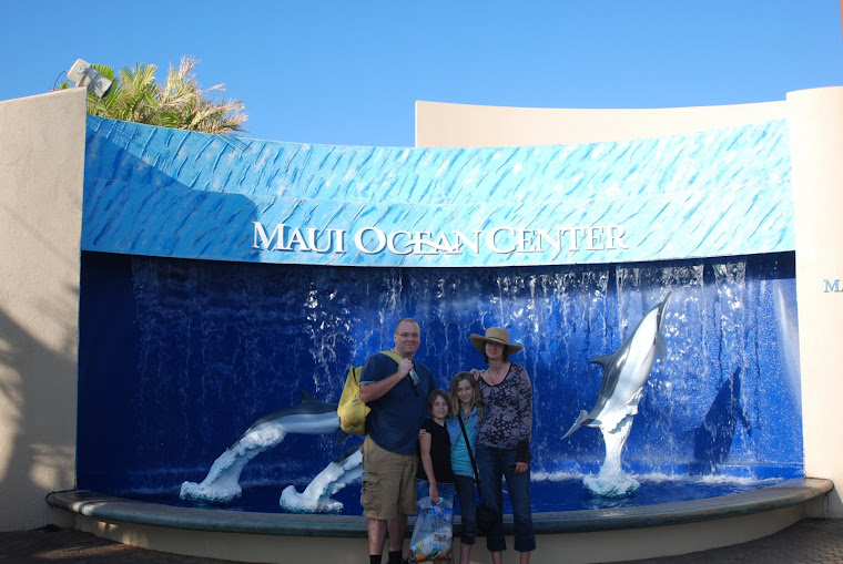 Us at the aquarium