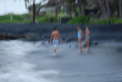 US SWIMMING AT THE BLACK SAND BEACH!!! (SORRY, A BIT BLURRY)