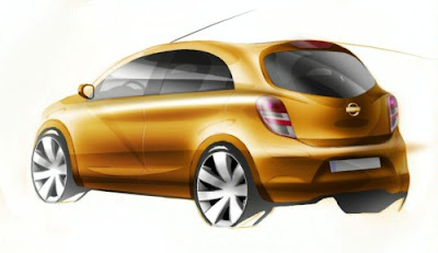 Nissan Reveals New Micra Sketches 2010 Nissan Reveals New Micra Sketches 2010