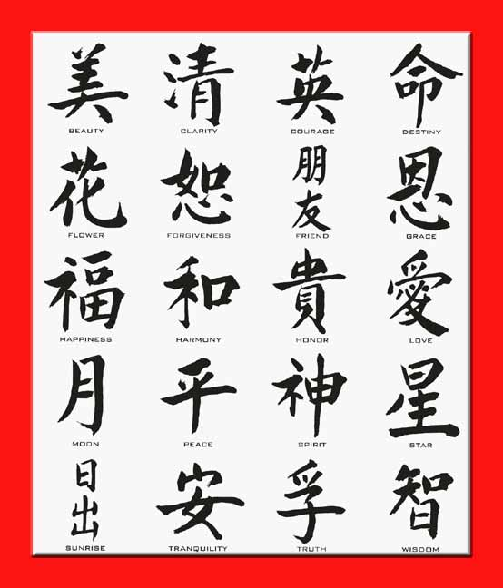 Easy Chinese Symbols And Their Meanings Images & Pictures - Becuo