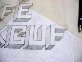 Square Font Photo Close-up
