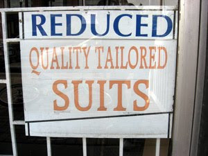 Reduced Quality Tailored Suits