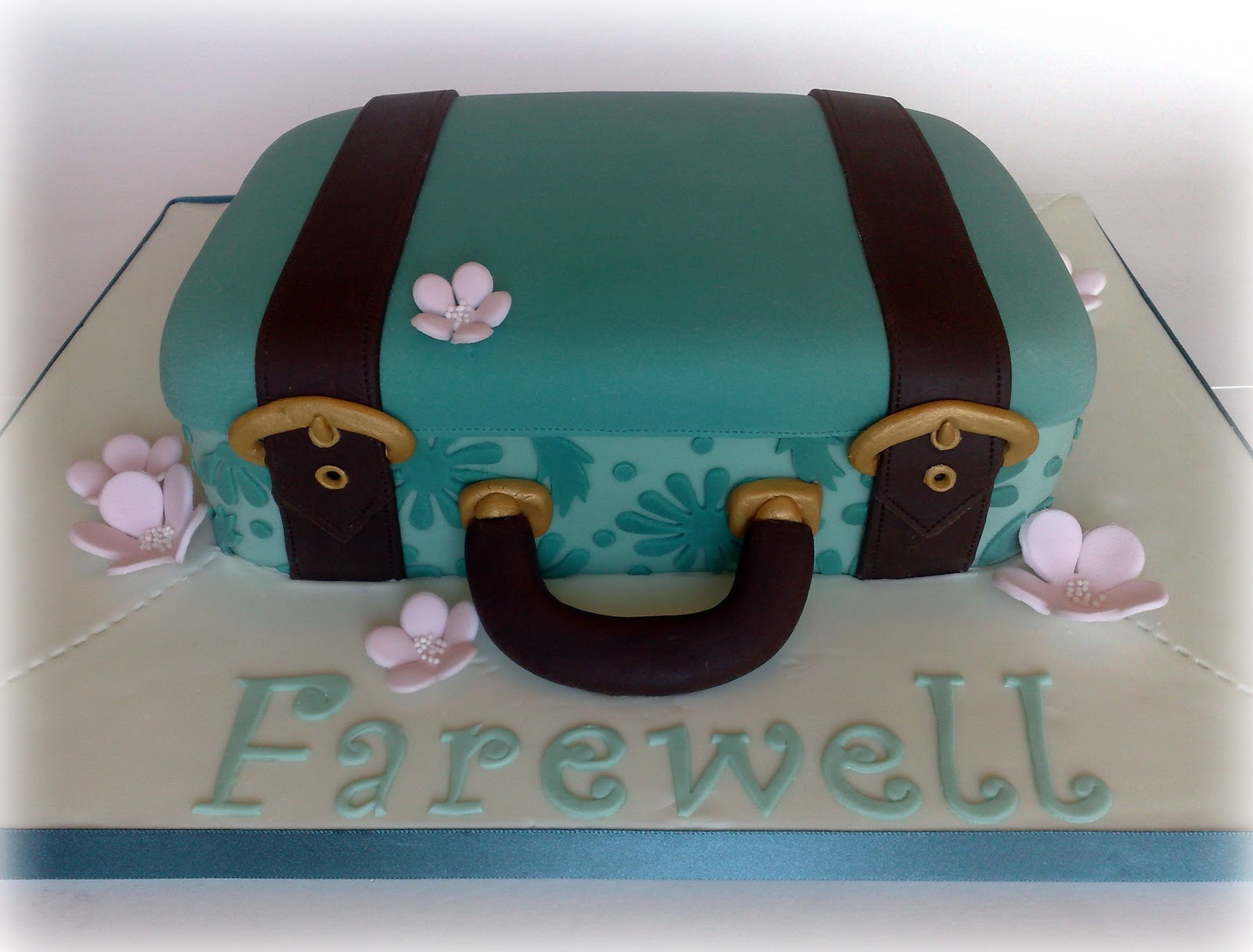 Goodbye Cake Images : Small Things Iced: Farewell Suitcase Cake