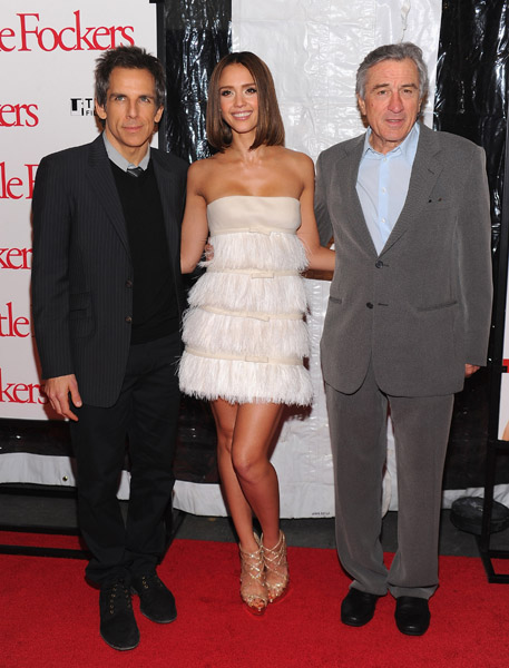 jessica alba little fockers blue dress. Jessica Alba attended the