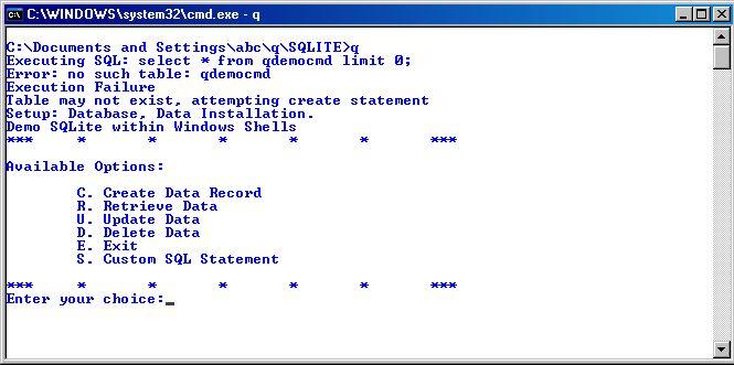 Hello World!: Executing SQL query using SQLite. Windows Batch ...