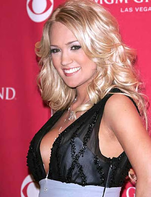 Carrie Underwood volumious long hair
