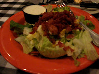 Click to enlarge - Calhouns House alad with additional toppings