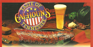 Click to enlarge - Calhoun's logo scanned from the take home menu