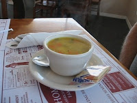 Click to enlarge - Hot steamy chicken soup.