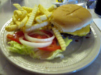 Click to enlarge – Cheeseburger and French Fries.