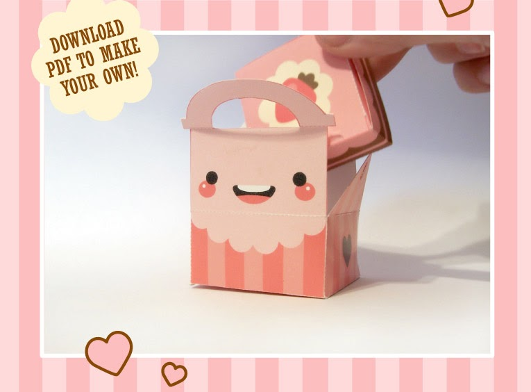 Diy Valentines Cake Cake Box By Milkbun On Packaging Of