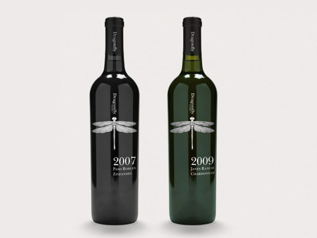 dragonfly wine 01 Wine Design: Beautiful and Inspiring Wine Bottle Designs