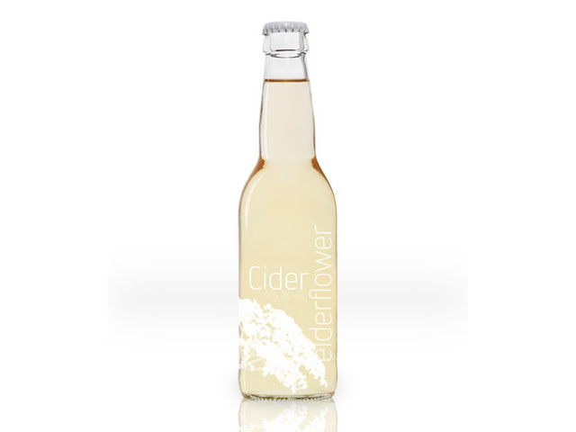 Cider+elderflower Need your Packaging fix? Spectacular Illustration + Text Art Packaging Designs