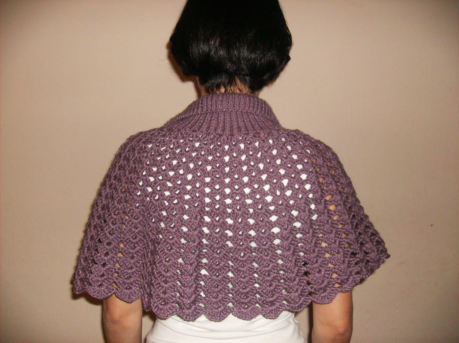Mania de linhas - trico, croche e tear: Pelerine em croche