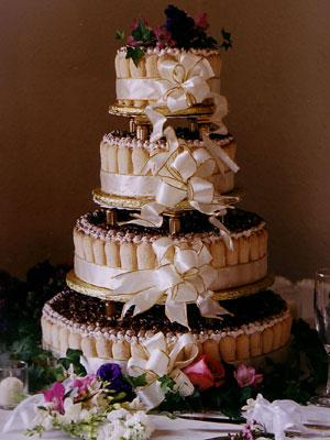 Picture of 3tier Tiramisu Wedding Cake by Sugar 39 39N 39 39 Spice Custom Cakes