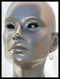 tête personnage et miroir art plastique mise en abyme