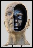 Visage pétrifié statue de sel mais un oeil nous regarde