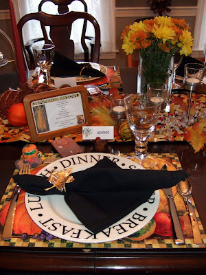 Eleven For Thanksgiving Dinner Requires Seating At Both The Kitchen And Dining Room Tables Above Is Place Settings Below