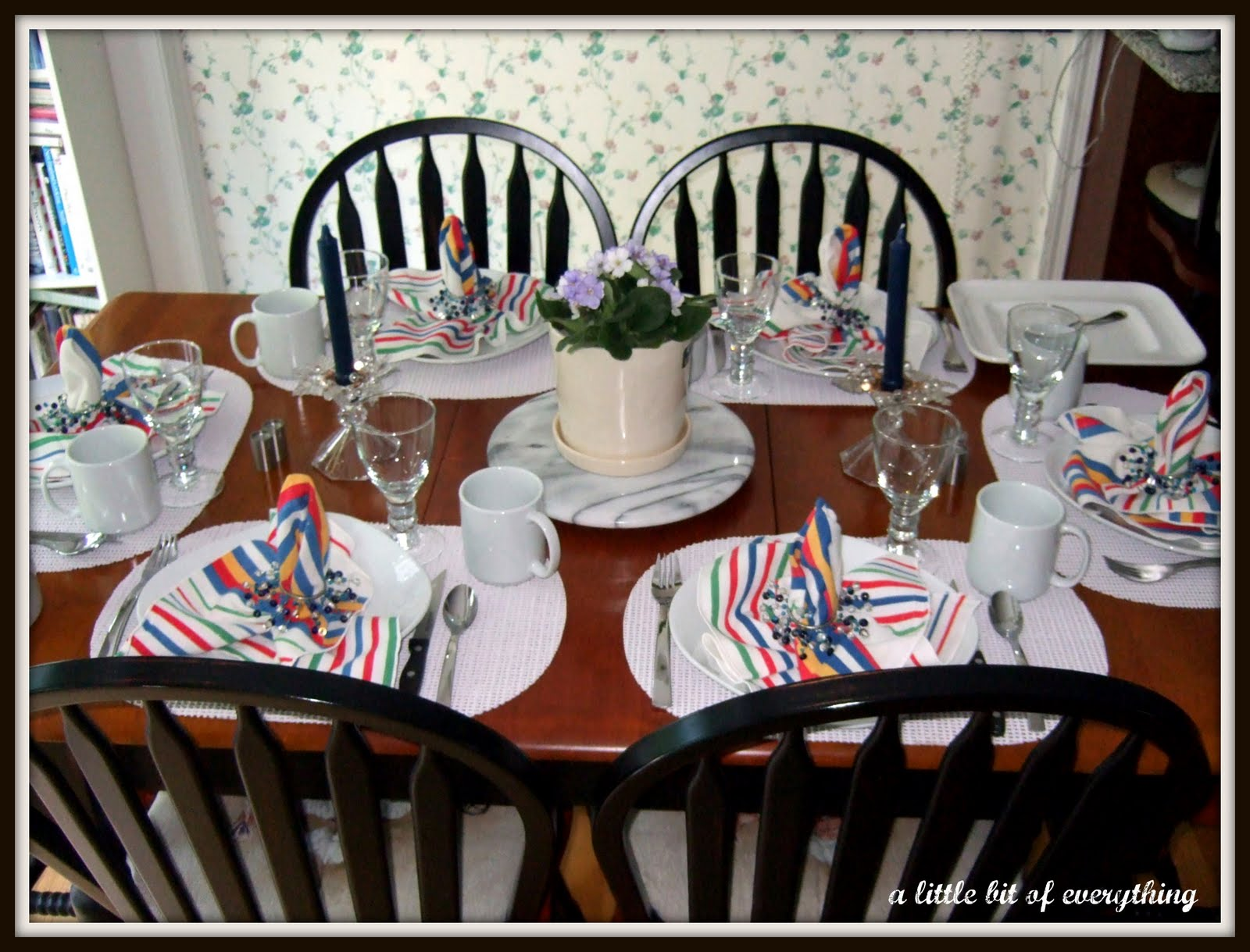 Dinner table setting table decorations for father s day view