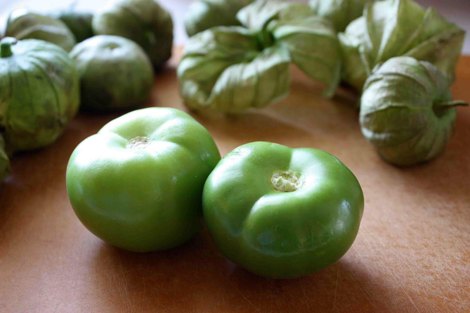 Line a large baking sheet with foil and place the tomatillos on it ...