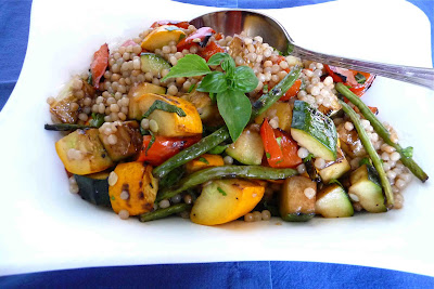 Israeli Couscous with Grilled Summer Vegetables