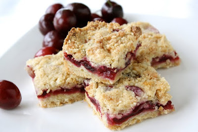 Summer Cherry & Crystallized Ginger Crumb Bar Recipe