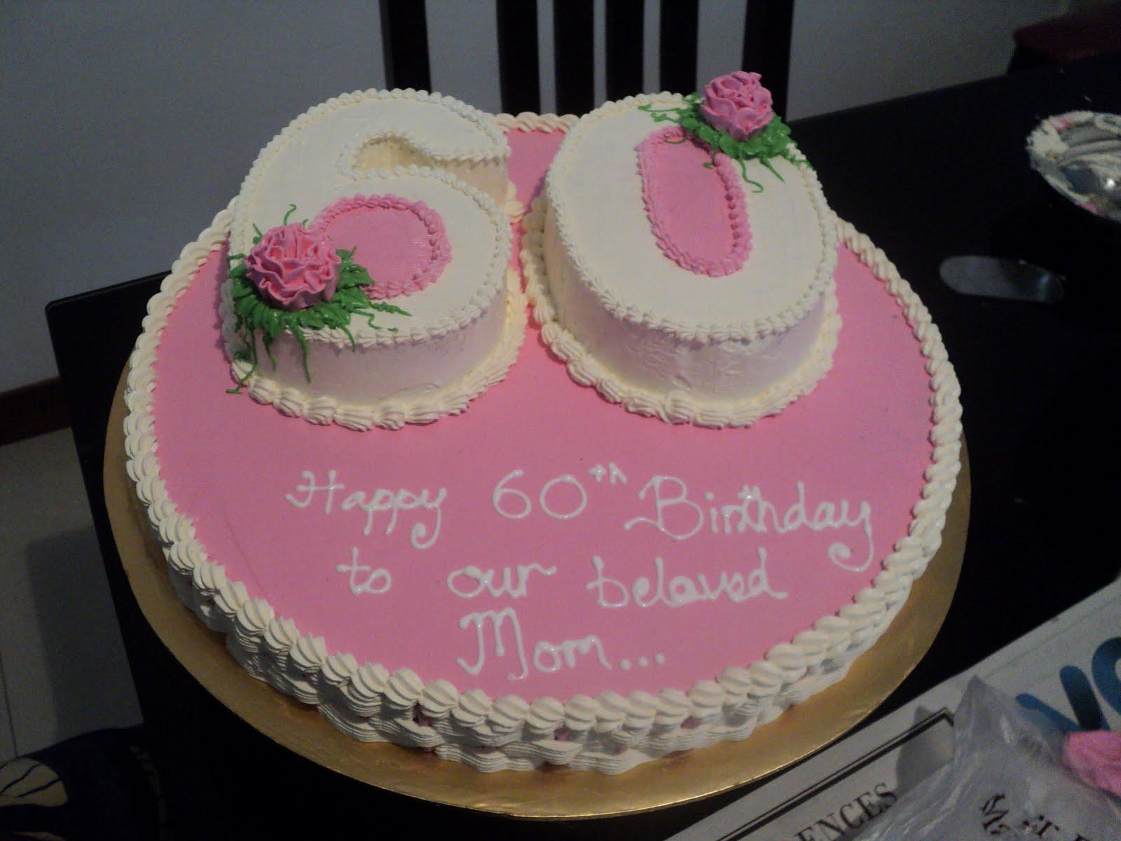 Sweet 60th Birthday Cake