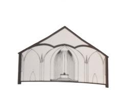 Querschnitt der Kirche
