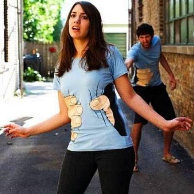 funny tee shirt. Funny T-Shirt Illusion